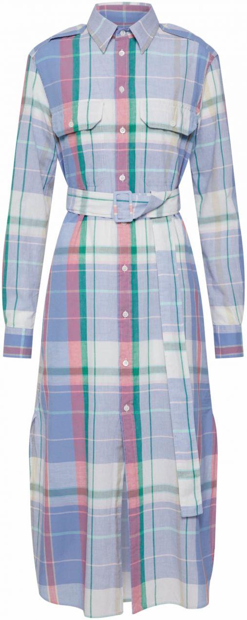 9fd9bd1f9 Košeľové šaty POLO RALPH LAUREN Modré / Biela POLO RALPH LAUREN ...
