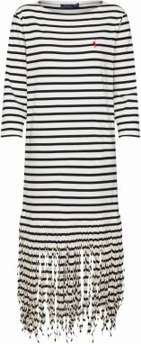 POLO RALPH LAUREN Letné šaty 'FRINGE DRESS-3/4 SLEEVE-CASUAL DRESS'  biela
