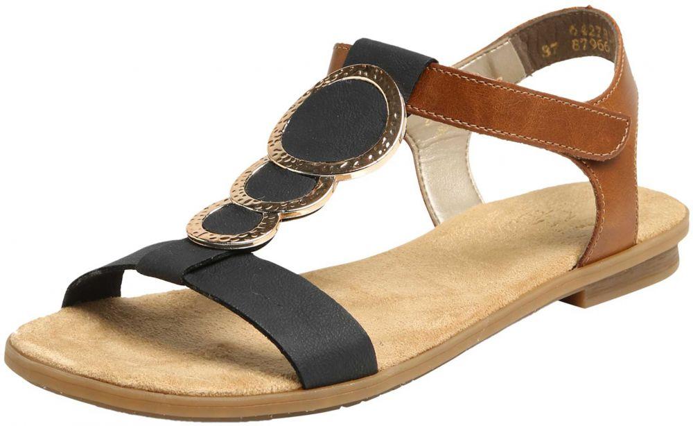 9ff454756 Remienkové sandále RIEKER Tmavomodrá / Hnedé RIEKER značky RIEKER ...