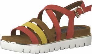 94997f48c631b Remienkové sandále MARCO TOZZI Hnedé / žlté / červené / Biela MARCO TOZZI