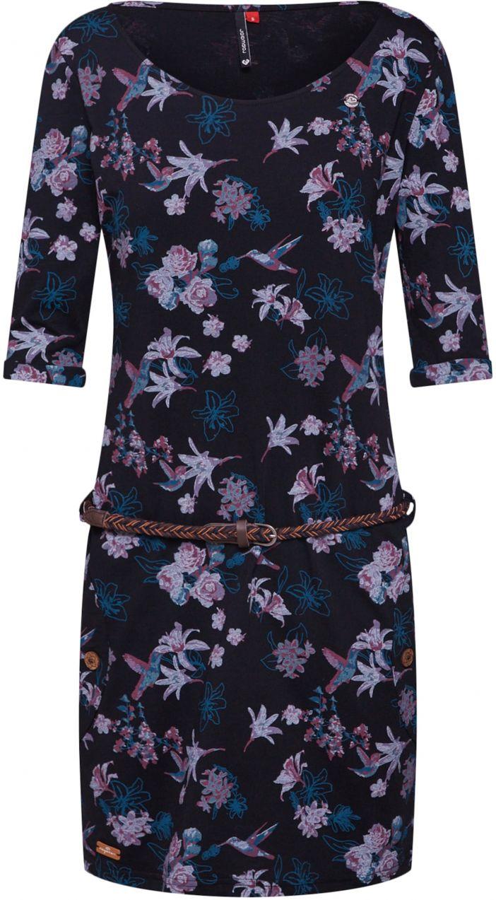 8a1977d05 Šaty 'Tanya Flowers' Ragwear Modré / Tmavofialová / čierna Ragwear ...