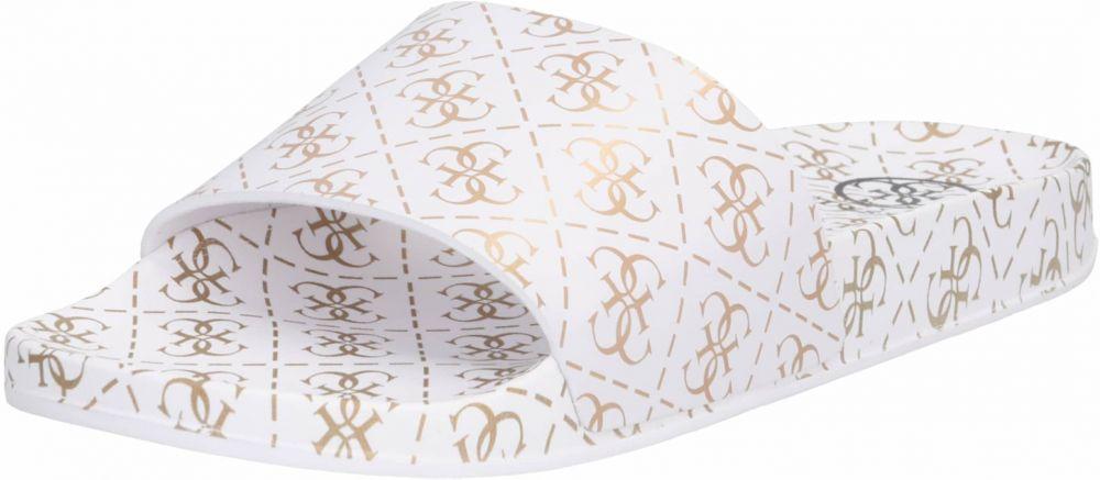 30d16953f Šľapky 'I-SAVAN' GUESS Zlatá / Biela GUESS značky Guess - Lovely.sk