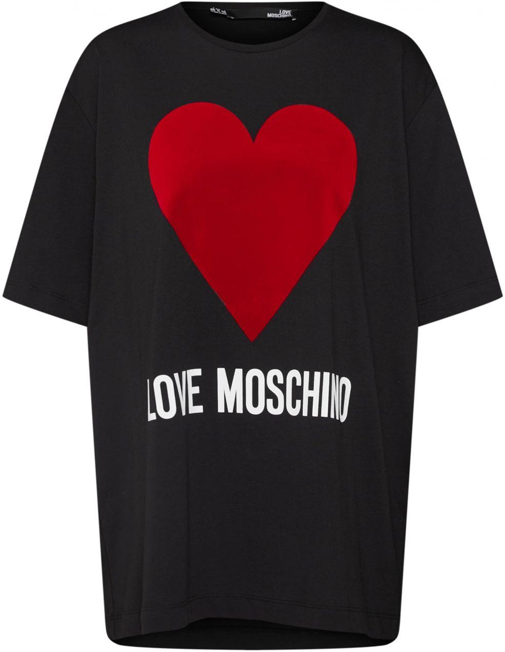 fcef3c9ee Lovely Žena Oblečenie Tričká, topy, tielka Tričká s krátkym rukávom. Tričko  'MAGLIETTA M/C STAMPA LOGO' Love Moschino čierna Love Moschino