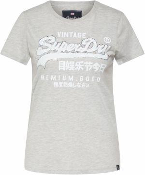 7f67657c1 Tričko Superdry Svetlosivá / Biela Superdry