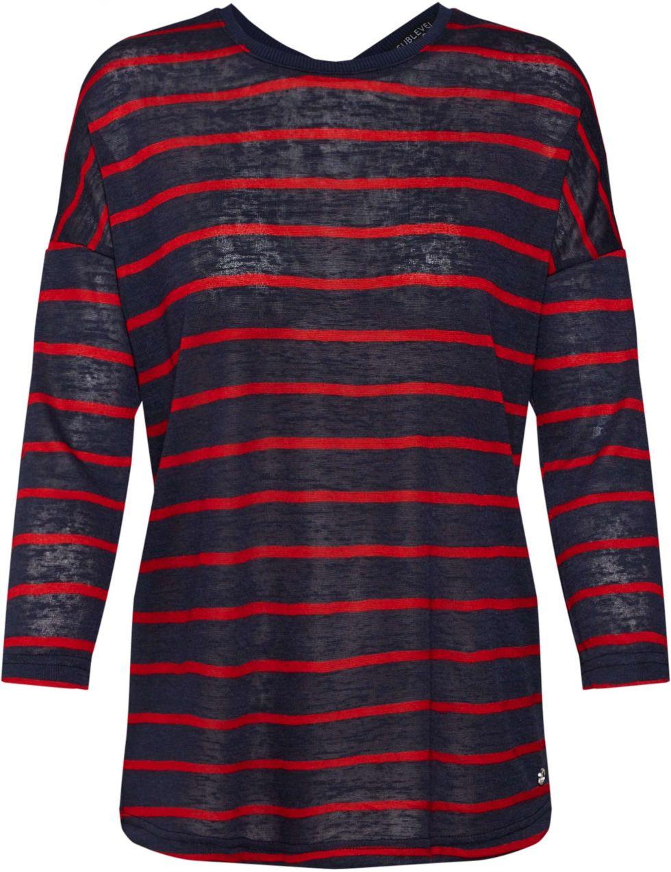 4308d6cc4 ... tielka Tričká s dlhým rukávom. Tričko Sublevel Námornícka Modrá /  červené Sublevel