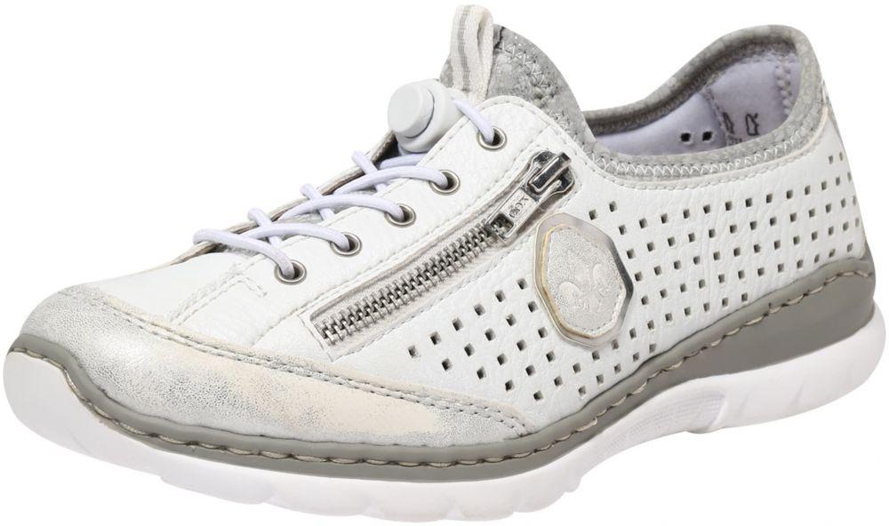 2904b8c54d50f Športové šnurovacie topánky RIEKER Strieborná / Biela RIEKER značky ...