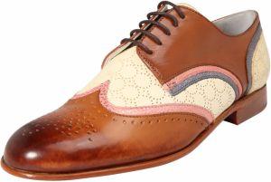 e5ef95d22 Šnurovacie topánky 'Sally 15' MELVIN & HAMILTON Hnedé / Ružová / Biela  MELVIN &