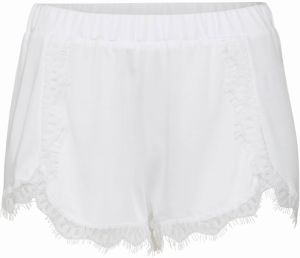 NA-KD Nohavice 'Overlapped Lace Detailed Shorts'  biela