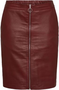 Sukňa 'LEATHER PENCIL SKIRT' SAINT TROPEZ Bordové SAINT TROPEZ