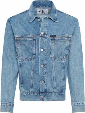 3c71b1b49 Modrá pánska rifľová bunda s potlačou Calvin Klein Jeans značky ...