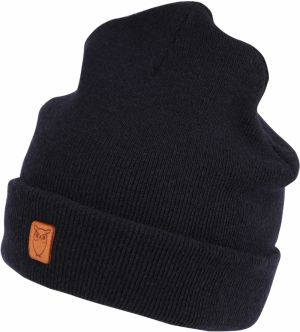 Čiapky 'Beanie organic wool - GOTS' KnowledgeCotton Apparel Kobaltovomodrá KnowledgeCotton Apparel