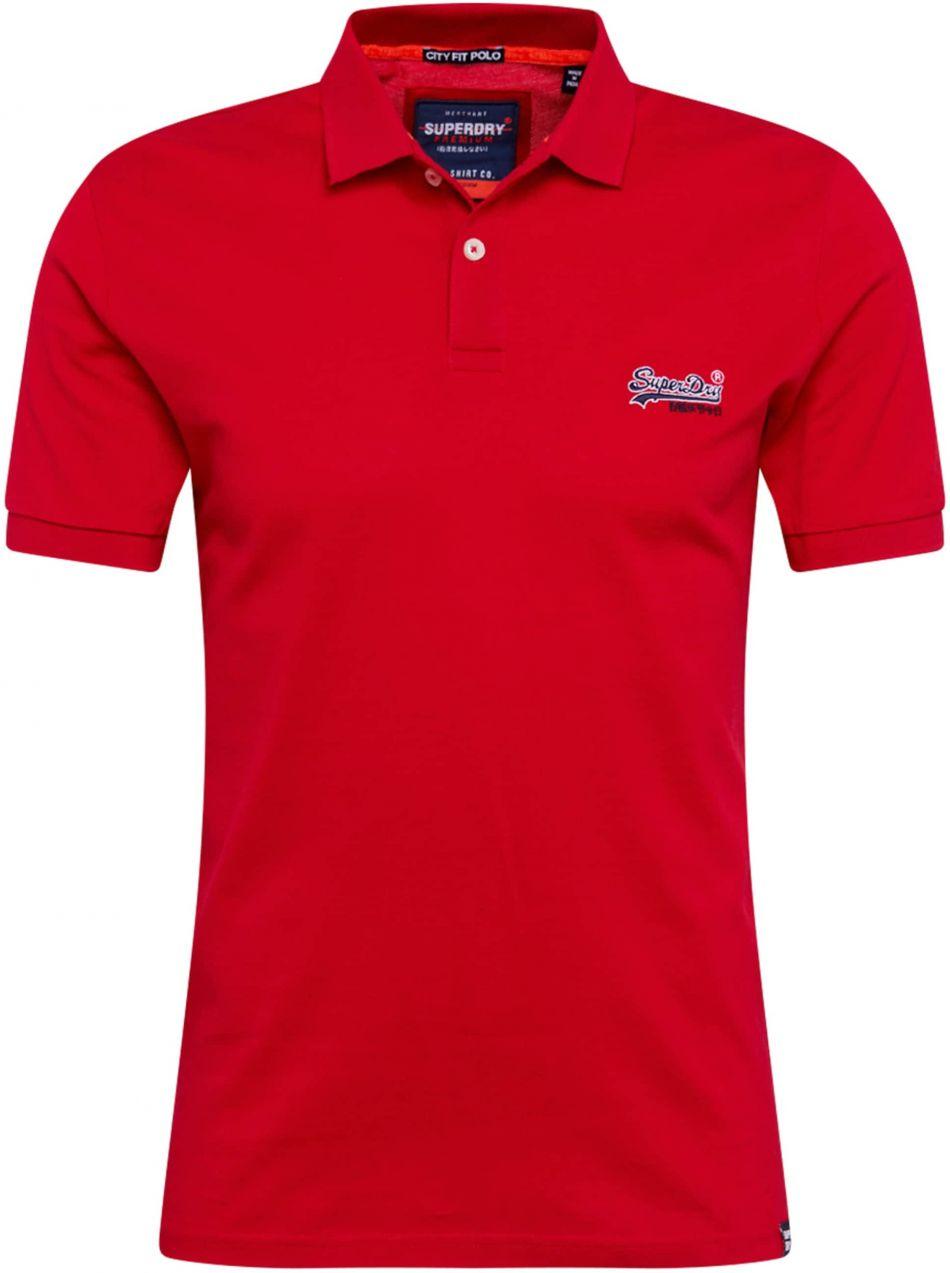 630a8638a Lovely Muž Oblečenie Tričká, polokošele Polokošele. Tričko 'Mercerised Lite  City' Superdry červené Superdry