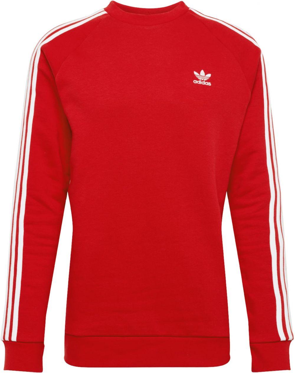 d87104d37 Mikina '3 Stripes' ADIDAS ORIGINALS červené / Biela ADIDAS ORIGINALS ...