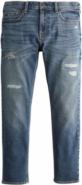 HOLLISTER Džínsy 'BTS19-SKNY CROP DARK REPAIR 1CC'  modrá denim