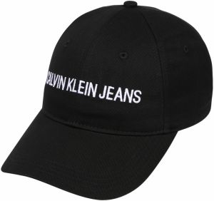 Calvin Klein Čiapka 'J SEASONAL INSTITUTIONAL CAP'  čierna
