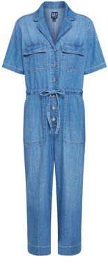 GAP Overal 'SS UTILITY JUMPSUIT - MED WASH'  modrá denim