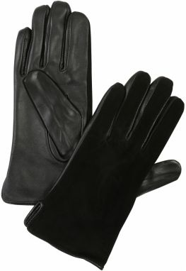 VERO MODA Prstové rukavice 'NICOLINE LEATHER GLOVES'  čierna