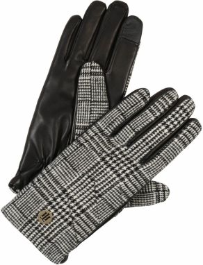 TOMMY HILFIGER Prstové rukavice 'TH LEATHER GLOVES POW'  sivá
