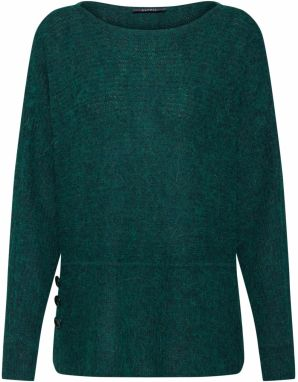 Esprit Collection Sveter 'boaty neck Sweaters'  tmavozelená