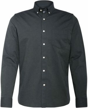 KnowledgeCotton Apparel Košeľa 'Strethced oxford shirt'  jedľová