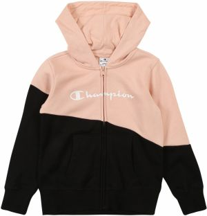 Champion Authentic Athletic Apparel Mikina 'Hooded Full Zip Sweatshirt'  rosé / čierna