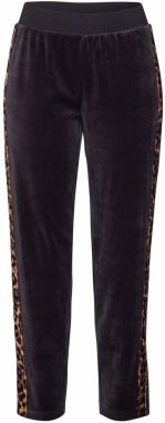 Juicy Couture Black Label Nohavice 'LEOPARD SIDE STRIPE VELOUR TRK PANT'  čierna