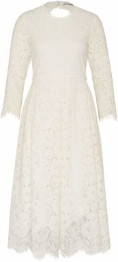 IVY & OAK Šaty 'Lace Dress Fit And Flair'  biela