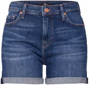 7 For All Mankind Džínsy 'BOY SHORTS'  modrá denim