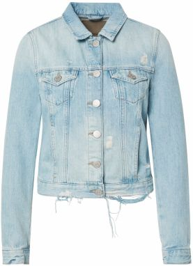 True Religion Prechodná bunda 'DENIM JACKET DESTROYED LIGHT BLUE'  modrá denim