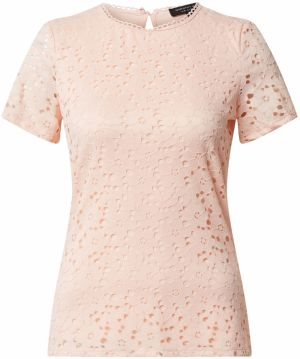 Dorothy Perkins Tričko 'ORANGE LACE FITTED T-SHIRT'  koralová