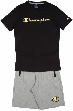 Champion Authentic Athletic Apparel Set  čierna / sivá