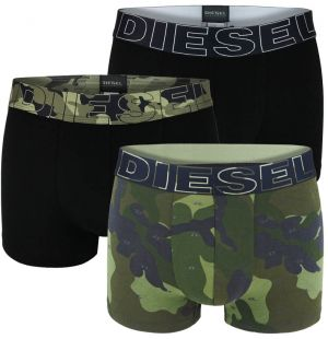 DIESEL - 3PACK army green camo boxerky