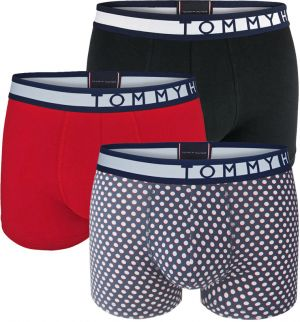 TOMMY HILFIGER - 3PACK premium inverted color dots boxerky z organickej bavlny