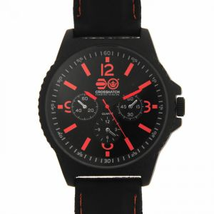 Men's watch Crosshatch Quartz Stitched Rubber Strap