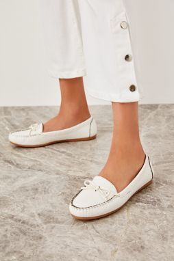 Trendyol Woman In White Loafer Shoes