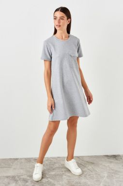 Trendyol Knitted dress with gray pockets