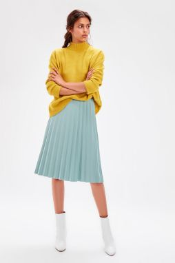 Trendyol Mint Pilise Knitted Skirt