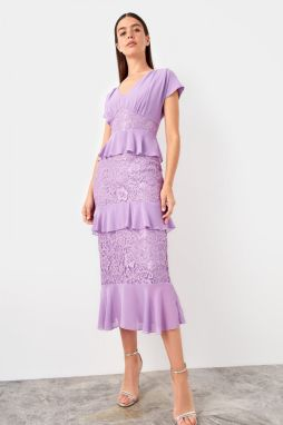 Trendyol Lila Lace Detailed Dress