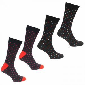 Jack and Jones 4pk Polka Dot Socks
