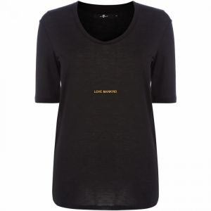 For All Mankind JT CREW NK T-SHIRT G Black XS
