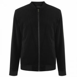 Selected Homme Velour bomber jacket