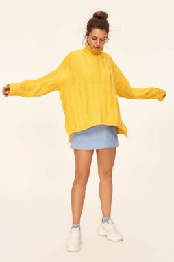 Trendyol Yellow Streaming Sweater Sweaters