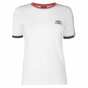 Umbro Contrast Logo Tape Tee Ladies