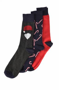 Trendyol New 3-Pack Socks With Multicolored Men's Squared