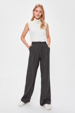 Trendyol Anthracite Striped Pants