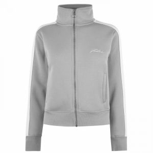Fabric Piped Funnel Zip Jacket Ladies