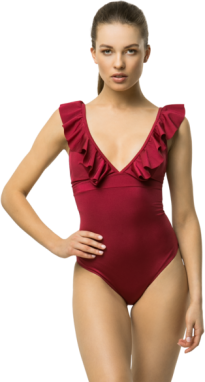 Cardio Bunny Woman's Swimsuit Goiberry Burgundy