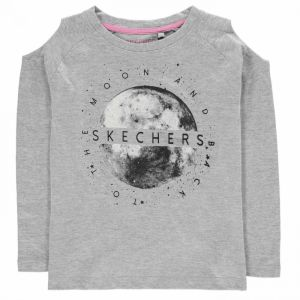 Skechers Cold Shoulder Long Sleeve T Shirt Junior Girls
