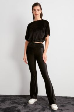 Trendyol Black Flare Knitted Pants