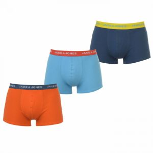 Jack and Jones 3 Pack Solid Trunks